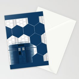 Tardis Art Blue Box Shadow Stationery Cards