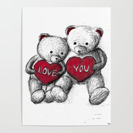 Bear: Valentine's Day Poster