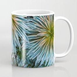 Star Plant Teal Coffee Mug