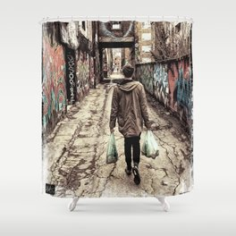 Graffiti Alley Shower Curtain