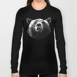 Black and white bear portrait Long Sleeve T-shirt