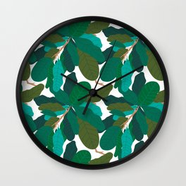 Tropicana Banana Leaves in Classic White Wall Clock
