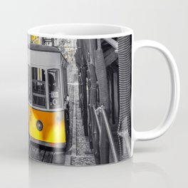 Lisbon Yellow Elevator Tram Coffee Mug