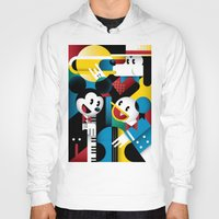 band Hoodies featuring Mickey's Band by Szoki