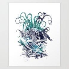 strange artefact amusement park Art Print