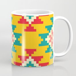 Bold and Vibrant Native Inspired Pattern on Yellow Coffee Mug