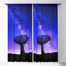 VLA Radio Telescope: Milky Way, night Blackout Curtain