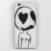 larry iPhone & iPod Skins featuring Larry by Anna Dunlap Hartshorn