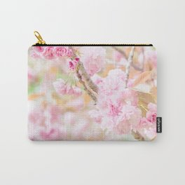 double cherry blossoms in japanese garden Carry-All Pouch
