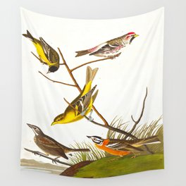 Arkansaw Siskin Bird Wall Tapestry