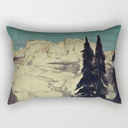 The Pending Storm at Hike Rectangular Pillow