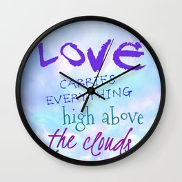 High Above The Clouds Wall Clock
