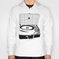 record Hoodies featuring Record Player by Paul McCreery