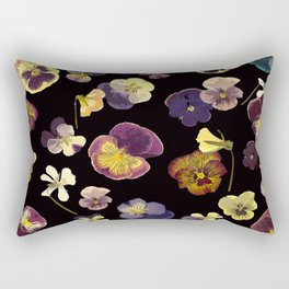 Dark Pansies Rectangular Pillow
