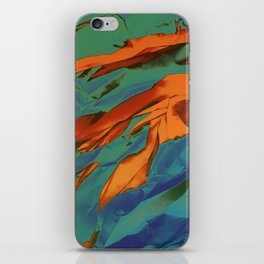 Green, Orange and Blue Abstract iPhone Skin