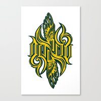 starcraft Canvas Prints featuring Angel 3K ambigram by LoneLeon