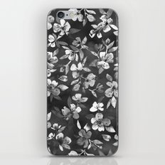 Blossoms on Charcoal Ink iPhone & iPod Skin