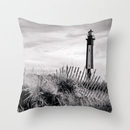 Cape Henry Lighthouse the 2nd (B&W) Throw Pillow