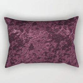 Deep Burgundy wine velvet Rectangular Pillow