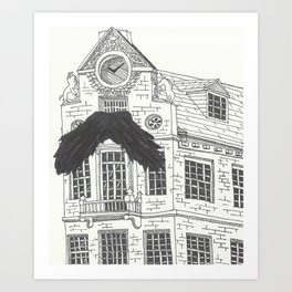 Mustachioed Monuments -- Old State House Art Print