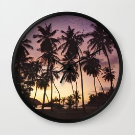 Palm trees on the Seychelles Wall Clock