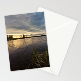 sunset on south bay Stationery Cards