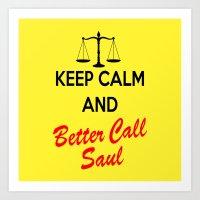 better call saul Art Prints featuring Better Call Saul by DeBUM