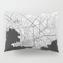 Montevideo Map Gray Pillow Sham
