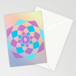 Mandal color wheel Stationery Cards