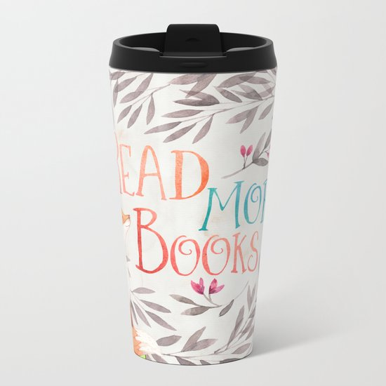 Read More Books - Fox Metal Travel Mug