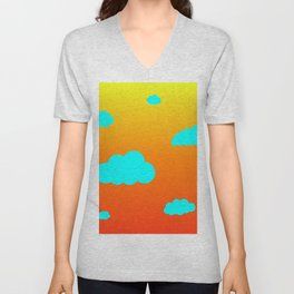 Cloudy Sunset Unisex V-Neck