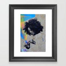 Afro Boy Framed Art Print