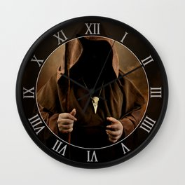 The wizard with skull pendant Wall Clock