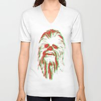 chewbacca V-neck T-shirts featuring Chewbacca by mangen