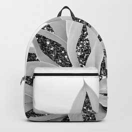 Gray Agave with Black Silver Glitter #1 #shiny #tropical #decor #art #society6 Backpack