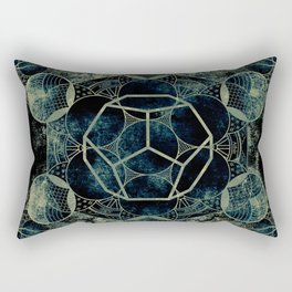 Sacred Geometry for your daily life -  Platonic Solids - ETHER Rectangular Pillow