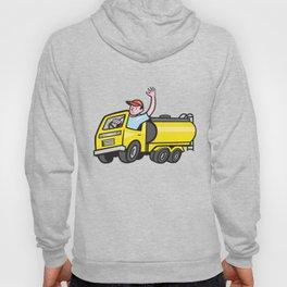 Tanker Truck Driver Waving Cartoon Hoody