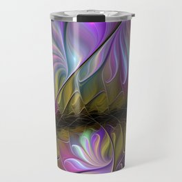 Come Together, Abstract Fractal Art Travel Mug