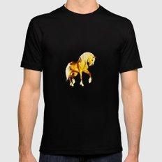 HORSES-Golden Palomino Black Mens Fitted Tee MEDIUM