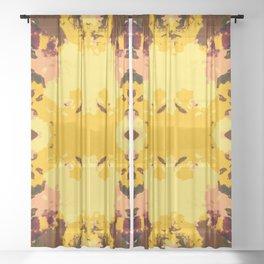 Ichiaru - Abstract Colorful Chic Batik Tie-Dye Style Butterfly Sheer Curtain