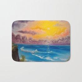Beach Cove, Beautiful Beach, Colorful Beach, Beach Sunset, Colorful Sunset Bath Mat