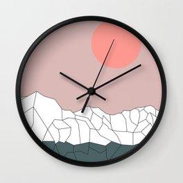 Geometric Landscape 17 Wall Clock
