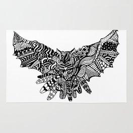 Dragon Owl (BW) Rug