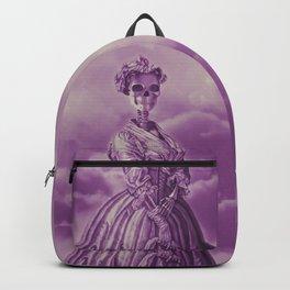Lady Bonehead VINTAGE PURPLE / Skeleton portrait Backpack