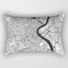 Bordeaux Map Gray Rectangular Pillow