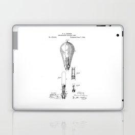 patent art Edison 1892 Incandescent electric lamp Laptop & iPad Skin