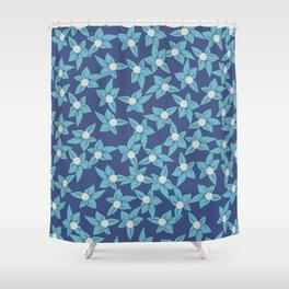 Summer Flowers Widowmaker Shower Curtain