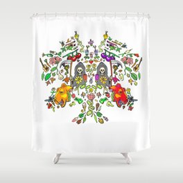 Mirror Spring & Reapers Shower Curtain