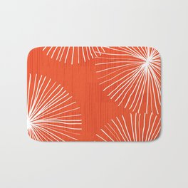 Dandelions in Red by Friztin Bath Mat