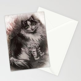 Big Black & White Cat - Louis Wain Stationery Cards